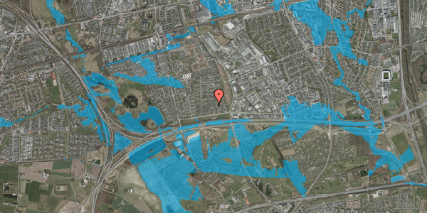 Oversvømmelsesrisiko fra vandløb på Syvhøjvænge 49, 2625 Vallensbæk