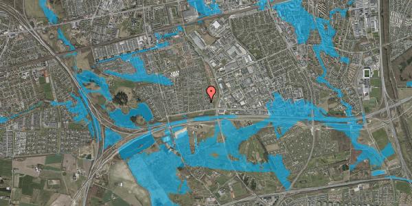 Oversvømmelsesrisiko fra vandløb på Syvhøjvænge 50, 2625 Vallensbæk