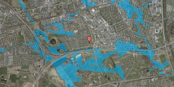 Oversvømmelsesrisiko fra vandløb på Syvhøjvænge 51, 2625 Vallensbæk