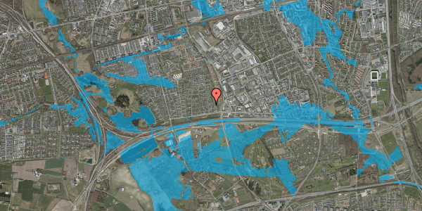 Oversvømmelsesrisiko fra vandløb på Syvhøjvænge 52, 2625 Vallensbæk