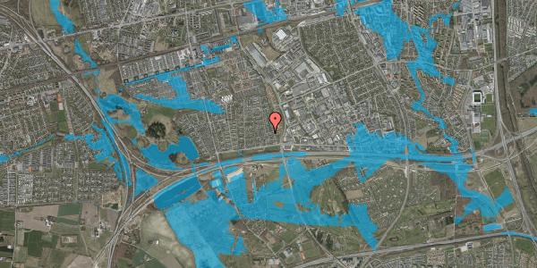 Oversvømmelsesrisiko fra vandløb på Syvhøjvænge 54, 2625 Vallensbæk