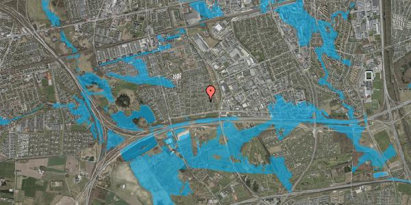 Oversvømmelsesrisiko fra vandløb på Syvhøjvænge 57, 2625 Vallensbæk
