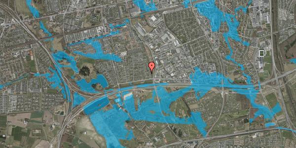 Oversvømmelsesrisiko fra vandløb på Syvhøjvænge 58, 2625 Vallensbæk