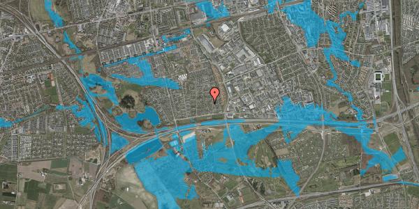 Oversvømmelsesrisiko fra vandløb på Syvhøjvænge 61, 2625 Vallensbæk