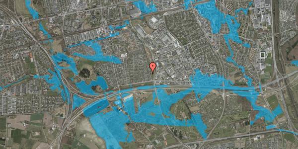 Oversvømmelsesrisiko fra vandløb på Syvhøjvænge 62, 2625 Vallensbæk