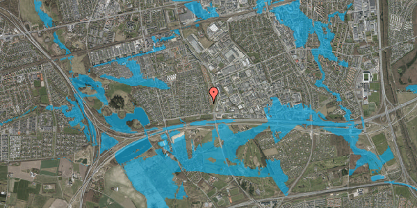 Oversvømmelsesrisiko fra vandløb på Syvhøjvænge 66, 2625 Vallensbæk