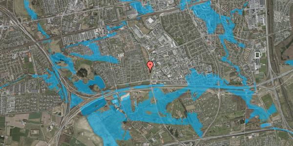 Oversvømmelsesrisiko fra vandløb på Syvhøjvænge 68, 2625 Vallensbæk