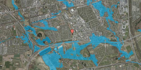 Oversvømmelsesrisiko fra vandløb på Syvhøjvænge 70, 2625 Vallensbæk