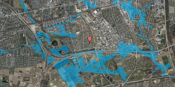 Oversvømmelsesrisiko fra vandløb på Syvhøjvænge 71, 2625 Vallensbæk