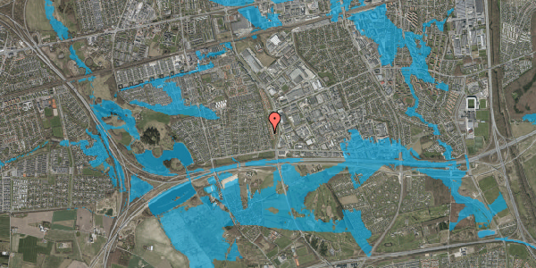 Oversvømmelsesrisiko fra vandløb på Syvhøjvænge 72, 2625 Vallensbæk