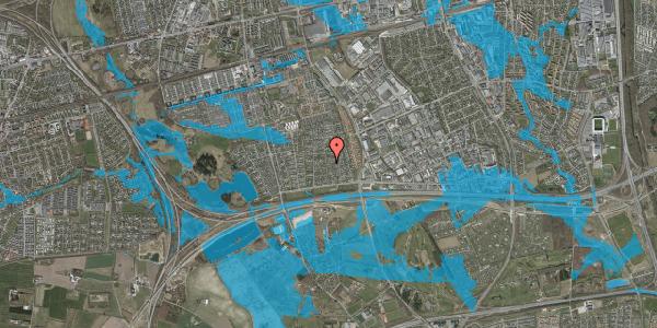 Oversvømmelsesrisiko fra vandløb på Syvhøjvænge 73, 2625 Vallensbæk