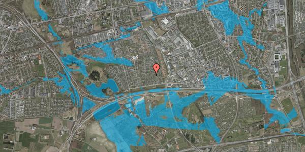 Oversvømmelsesrisiko fra vandløb på Syvhøjvænge 75, 2625 Vallensbæk