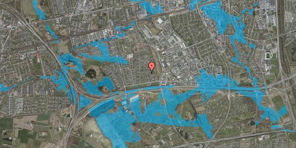 Oversvømmelsesrisiko fra vandløb på Syvhøjvænge 77, 2625 Vallensbæk