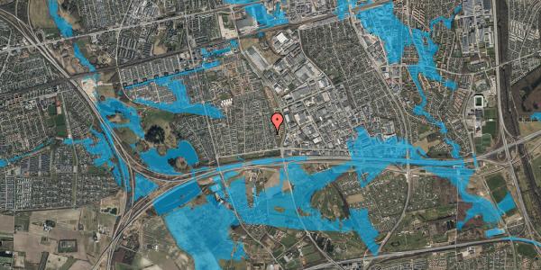 Oversvømmelsesrisiko fra vandløb på Syvhøjvænge 78, 2625 Vallensbæk