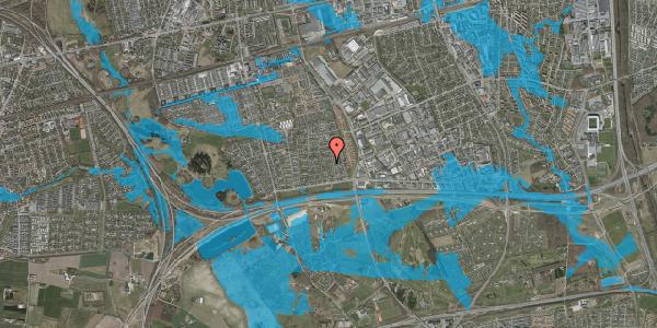 Oversvømmelsesrisiko fra vandløb på Syvhøjvænge 79, 2625 Vallensbæk