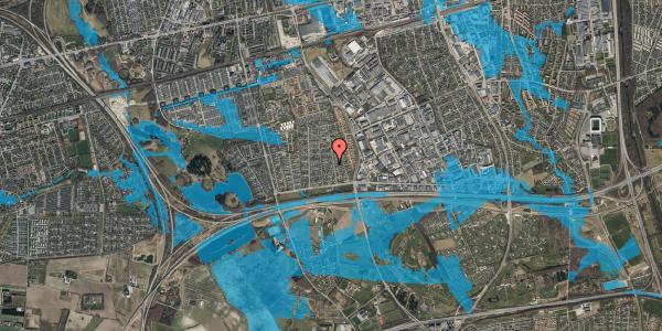 Oversvømmelsesrisiko fra vandløb på Syvhøjvænge 81, 2625 Vallensbæk