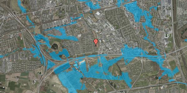 Oversvømmelsesrisiko fra vandløb på Syvhøjvænge 82, 2625 Vallensbæk