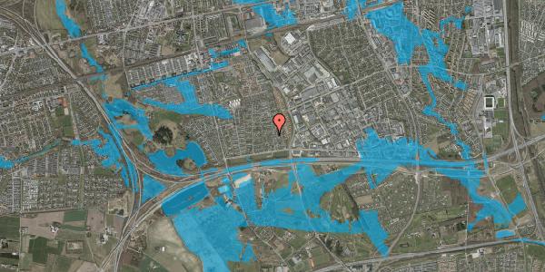 Oversvømmelsesrisiko fra vandløb på Syvhøjvænge 83, 2625 Vallensbæk