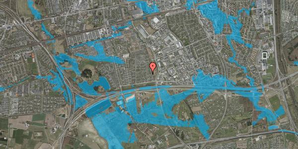 Oversvømmelsesrisiko fra vandløb på Syvhøjvænge 84, 2625 Vallensbæk