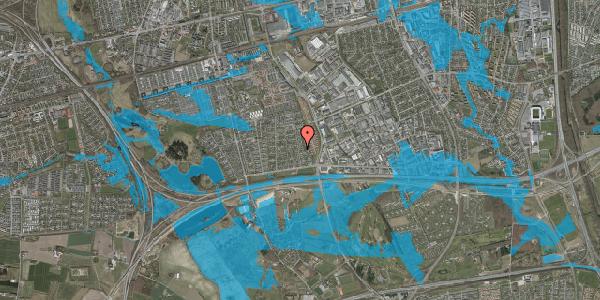 Oversvømmelsesrisiko fra vandløb på Syvhøjvænge 86, 2625 Vallensbæk