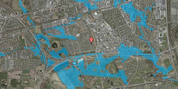 Oversvømmelsesrisiko fra vandløb på Syvhøjvænge 89, 2625 Vallensbæk