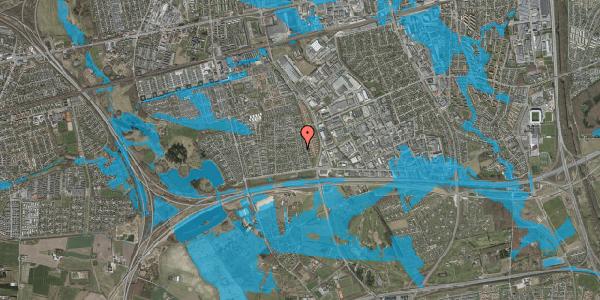 Oversvømmelsesrisiko fra vandløb på Syvhøjvænge 92, 2625 Vallensbæk