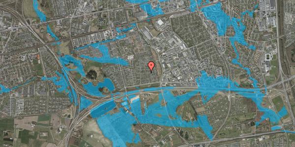 Oversvømmelsesrisiko fra vandløb på Syvhøjvænge 93, 2625 Vallensbæk