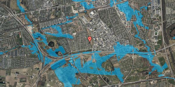 Oversvømmelsesrisiko fra vandløb på Syvhøjvænge 94, 2625 Vallensbæk