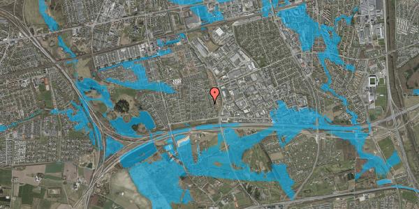 Oversvømmelsesrisiko fra vandløb på Syvhøjvænge 96, 2625 Vallensbæk