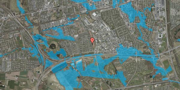 Oversvømmelsesrisiko fra vandløb på Syvhøjvænge 100, 2625 Vallensbæk