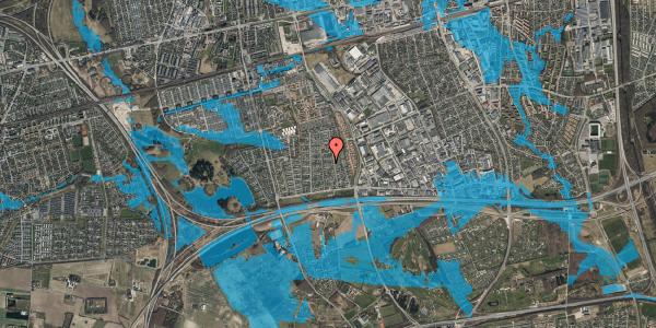 Oversvømmelsesrisiko fra vandløb på Syvhøjvænge 103, 2625 Vallensbæk