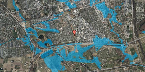 Oversvømmelsesrisiko fra vandløb på Syvhøjvænge 104, 2625 Vallensbæk