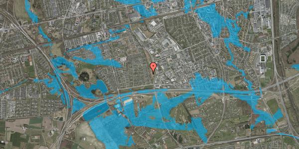 Oversvømmelsesrisiko fra vandløb på Syvhøjvænge 108, 2625 Vallensbæk