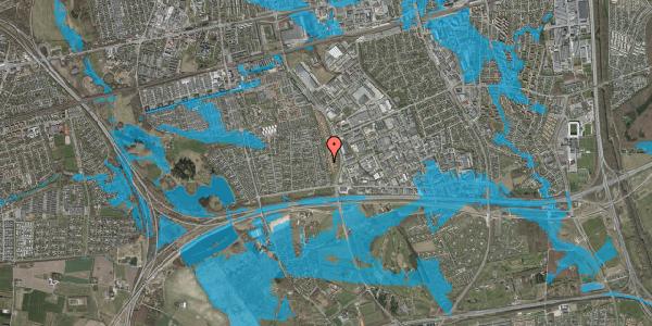 Oversvømmelsesrisiko fra vandløb på Syvhøjvænge 110, 2625 Vallensbæk