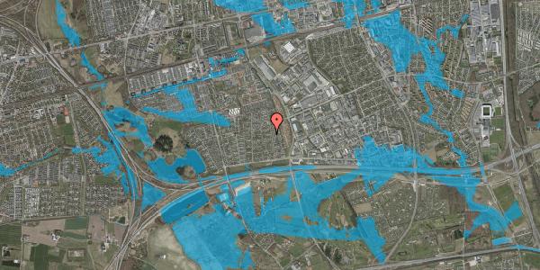 Oversvømmelsesrisiko fra vandløb på Syvhøjvænge 111, 2625 Vallensbæk