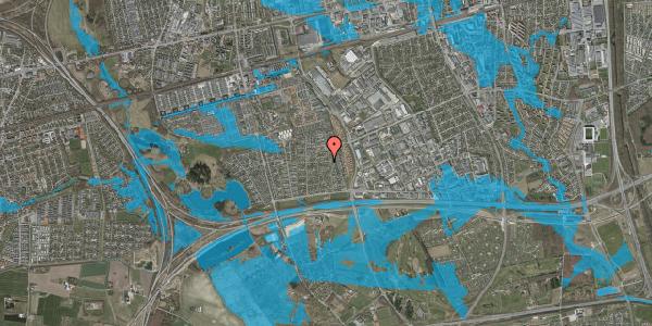 Oversvømmelsesrisiko fra vandløb på Syvhøjvænge 113, 2625 Vallensbæk