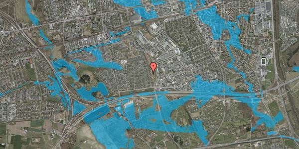 Oversvømmelsesrisiko fra vandløb på Syvhøjvænge 118, 2625 Vallensbæk
