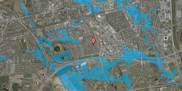 Oversvømmelsesrisiko fra vandløb på Syvhøjvænge 125, 2625 Vallensbæk
