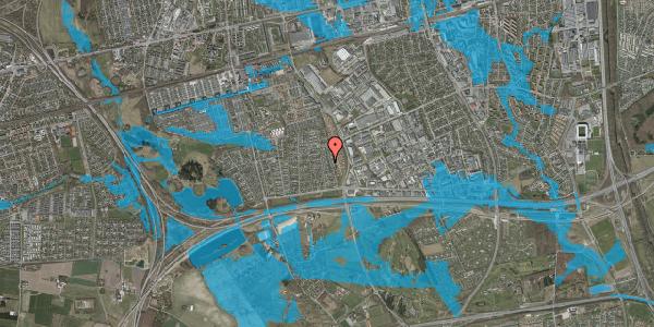 Oversvømmelsesrisiko fra vandløb på Syvhøjvænge 126, 2625 Vallensbæk