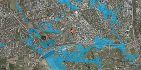 Oversvømmelsesrisiko fra vandløb på Syvhøjvænge 127, 2625 Vallensbæk