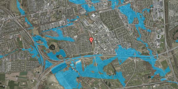Oversvømmelsesrisiko fra vandløb på Syvhøjvænge 130, 2625 Vallensbæk