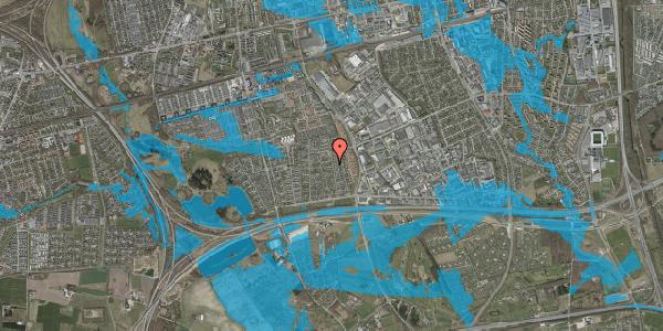Oversvømmelsesrisiko fra vandløb på Syvhøjvænge 131, 2625 Vallensbæk