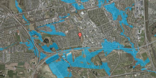 Oversvømmelsesrisiko fra vandløb på Syvhøjvænge 134, 2625 Vallensbæk