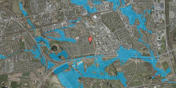 Oversvømmelsesrisiko fra vandløb på Syvhøjvænge 135, 2625 Vallensbæk