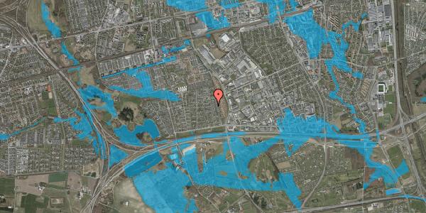 Oversvømmelsesrisiko fra vandløb på Syvhøjvænge 140, 2625 Vallensbæk