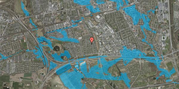 Oversvømmelsesrisiko fra vandløb på Syvhøjvænge 141, 2625 Vallensbæk