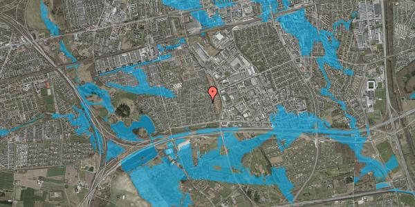 Oversvømmelsesrisiko fra vandløb på Syvhøjvænge 142, 2625 Vallensbæk