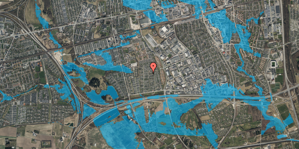 Oversvømmelsesrisiko fra vandløb på Syvhøjvænge 143, 2625 Vallensbæk