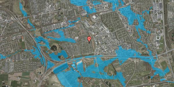 Oversvømmelsesrisiko fra vandløb på Syvhøjvænge 147, 2625 Vallensbæk