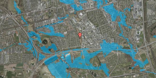 Oversvømmelsesrisiko fra vandløb på Syvhøjvænge 154, 2625 Vallensbæk